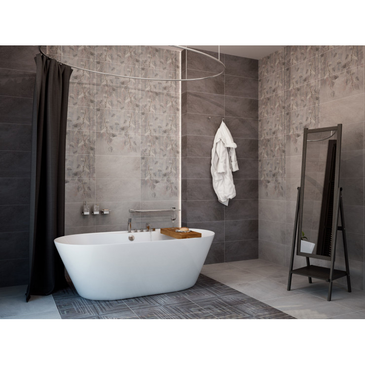 Декор GRACIA CERAMICA Jolie grey decor PG 01 30х60см