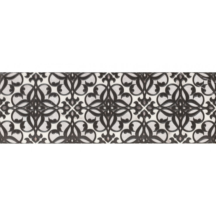 Декор GRACIA CERAMICA Velutti white decor 01 25х75см