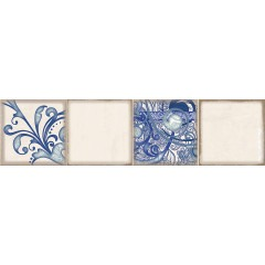 Декор ELETTO Faenza Cobalt Ornament 1 15,6х63см