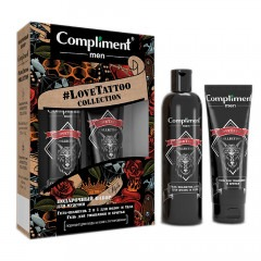 Подарочный набор COMPLIMENT Men #LoveTattoo Collection №1700