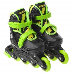 Ролики ONLITOP PVC 64 black-green 34-37