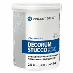 Покрытие декоративное VINCENT DECOR Decorum Stucco Multieffet Base Perle 2,5л