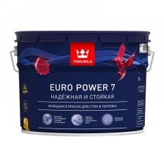 Краска TIKKURILA Euro Power 7 9л