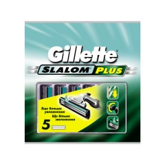 Кассеты GILLETTE Slalom Plus 5шт