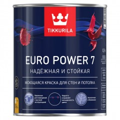 Краска TIKKURILA Euro Power 7 Белая 0,9л