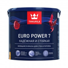 Краска TIKKURILA Euro Power 7 Белая 2,7л